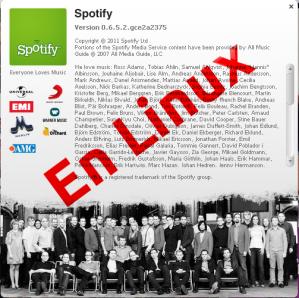 Imágen logo Spoatify en Linux